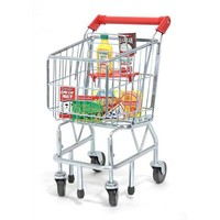 Melissa and Doug Shopping Cart with Fridge Food Set