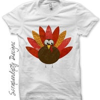 Iron on Turkey Shirt PDF - Thanksgiving Iron on Transfer / Kids Thanksgiving Shirt / Toddler Boys Clothes / Baby Shower Present IT53