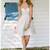 Buy NEW! Short Embellished Strapless Dress with Pleating Style EJ2M2715  , from  for $119.48 only in Fashionwithme.com.