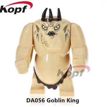 Single Sale Super Heroes Lord of the Rings Goblin King Cave Troll Big Size Figures Hulk Building Blocks Children Gift Toys DA056