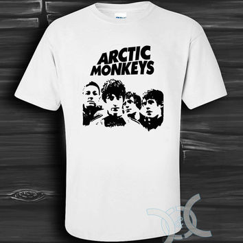 Arctic Monkeys White Design By Custom And Clothing T-Shirt men size S,M,L,XL