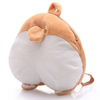 2017 hot Chibi Corgi Buttock Plush Backpack Novelty Puppy Dog Butt Bag Plush Toys Creative Gift School Bags