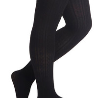 Look From London Liven Up Your Look Tights in Black - Plus