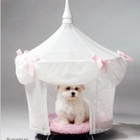 Amazon.com: Pet Tent Small Dog Bed - Sugarplum Princess: Pet Supplies