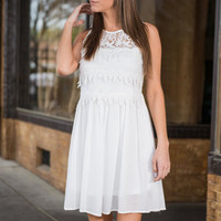 Sweet Songs Dress, White