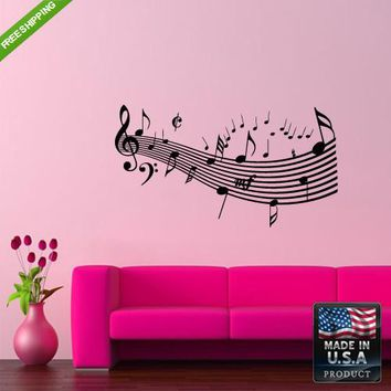 Wall Decals Art Decor Decal Sticker Beautiful Notes Music Bedroom  z192