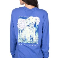 Final Sale - Peony Puppy - Long Sleeve