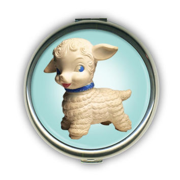 Buttercream Lil' Lambie Compact Mirror