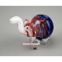 Color Elephant Hand Made Glass Pipe