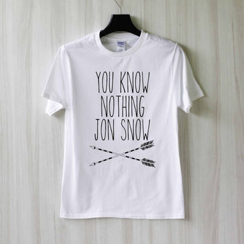 You Know Nothing Jon Snow Shirt T Shirt Tee Top TShirt – Size XS S M L XL