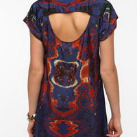 Urban Outfitters - Staring at Stars Silky Mirrored Photo Print Dress