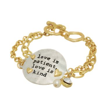 Love Is Patient Love Is Kind in Gold