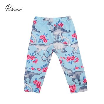Newborn Baby Boy Girl Kid Toddler Animal Print Bottom Harem Pants Cotton Soft Loose Trousers