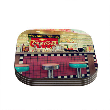 "Sylvia Cook ""Retro Diner"" Coca Cola Coasters (Set of 4)"