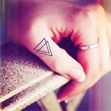 4pcs Small Double Triangle Tattoo Finger   Inknart Temporary Tattoo   Quote Tattoo Wrist Sticker Fake Tattoo Tiny Bird Love