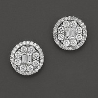 Bloomingdale'sDiamond Pavé Earrings in 18K White Gold, 1.0 ct. t.w.