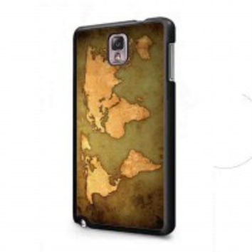 world map Vintage Patern for samsung galaxy note 3 case