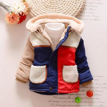 18-4T Winter Newborn Baby Snowsuit Cotton boys Coats And Jackets Baby Warm Kids Boy Jackets Outerwear Clothes