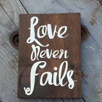 Scripture wood sign, Love never fails, Wood sign scripture, Bible verse wall art, Nursery wall art