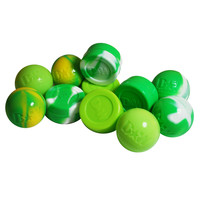 25 x Non-Stick Silicone Balls and Jars for BHO Handling - Different Greens Mix
