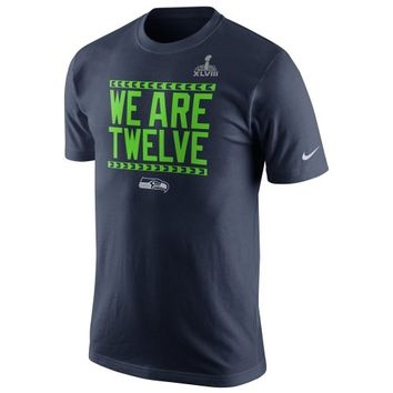 Nike Seattle Seahawks Super Bowl XLVIII Bound Local T-Shirt - College Navy