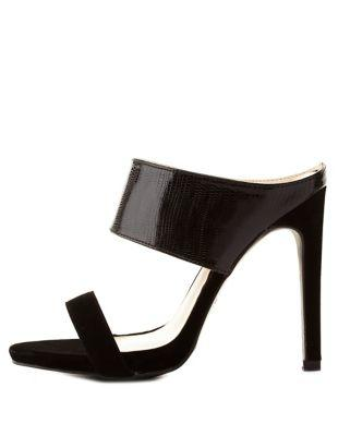 cfef1bd54189 Strappy High Heel Mule Sandals by from Charlotte Russe