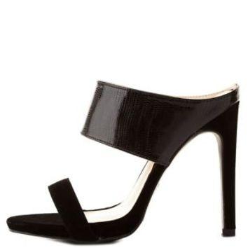 Strappy High Heel Mule Sandals by Charlotte Russe