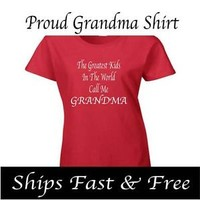 GRANDMA Ladies T-Shirt - New - Custom Made Graphic Shirt CHOOSE YOUR COLORS