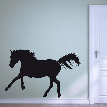 "Large ""Life Size"" Raring Horse Vinyl Decal (Interior & Exterior Available) Girls Room Decor, Large Wall Sticker, Horse Decal, Girls Birthday"