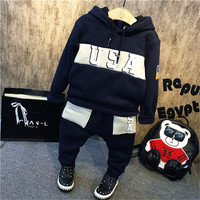 2016 autumn winter boy hoodies set Baby Boys Clothes leggings Pants Suit Hooded Letter USA printed Kid sweatshirt Clothing-in Clothing Sets from Mother & Kids on Aliexpress.com | Alibaba Group