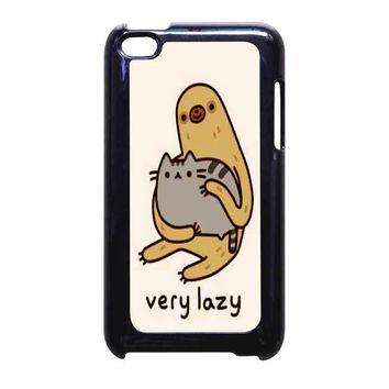 Pusheen Cat And Sloth iPod Touch 4th Generation Case