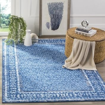 Safavieh Adirondack Vintage Light Blue/ Dark Blue Rug (8' x 10') | Overstock.com Shopping - The Best Deals on 7x9 - 10x14 Rugs