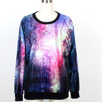 Forest Sweatshirts Women Sweatshirt Men Hoodie Women Sport Wear Galaxy Hoodies ladies hoodies women sweater hoodies pullover plus size coat