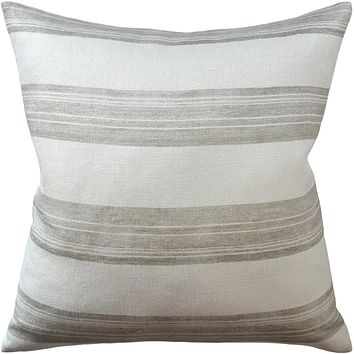 Askew Ivory and Taupe Decorative Pillow