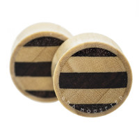 Crocodile and Sono Wood Striped Plugs