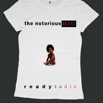 THE NOTORIOUS BIG screen print women t shirt ety09w