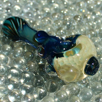 Honeycomb inside out color changing glass pipe AMERICAN made