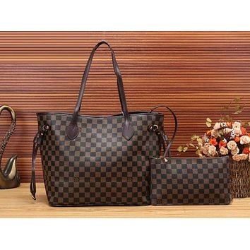Louis Vuitton Fashion Leather Handbag Bag Cosmetic Bag Two Piece Set For Women 3 Style G