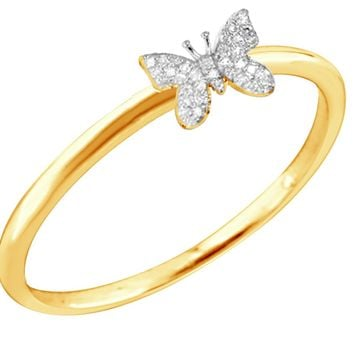 Little New Life Butterfly Diamond Ring - More Colors!