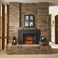 "Black Matte Surround For 29"" Built-In Electric Fireplaces"