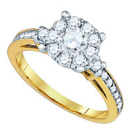 Diamond Fashion Bridal Ring in 14k Gold 1 ctw