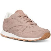 Reebok Women's Classic Leather Clean Exotics Casual Sneakers from Finish Line | macys.com