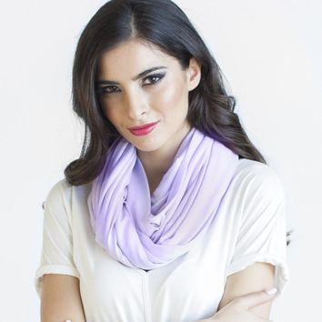 Infinity Scarf Cashmere Jersey in Ice Lavender