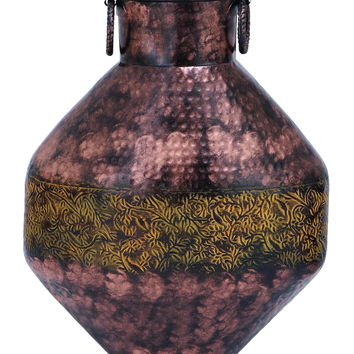 Metal Flower Vase with Antique and Durable Finish