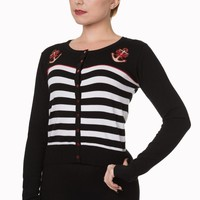 Banned Private Party Cardigan - Cbn373 - Black or Blue
