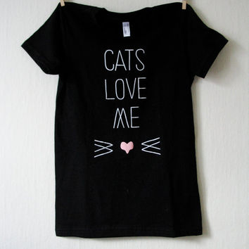 Cats Love Me Silkscreen T-shirt
