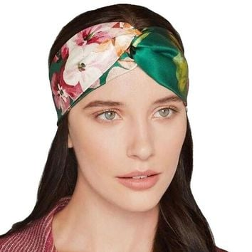 Fashion Women Flower Printed Spring Twist Hair Band Turban Headband Hairband for Women #3546