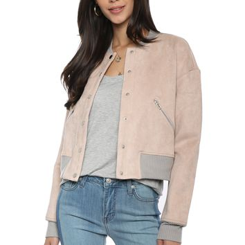 Robertson & Rodeo Suede Bomber Jacket