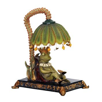 91-740  Sleeping King Frog Mini Lamp