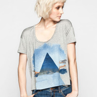 Life Clothing Co. Pyramid Sky Womens Boxy Tee Heather Grey  In Sizes